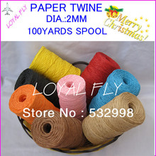10 color 20pcs/lot Raffia Ribbon/Paper String/Paper Twine - Beautiful wrapping by free shipping