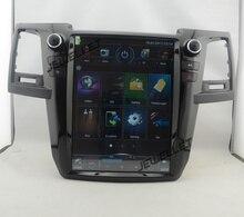 12,1 «tesla стиль вертикальный экран android 6,0 четырехъядерный Автомобильный GPS радио навигация для Toyota Fortuner Hilux SW4 2012-2015