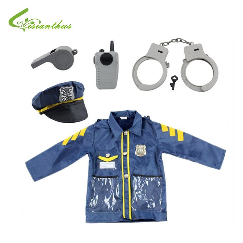 Boys Halloween Costumes Policeman Sets Cosplay Stage Wear Clothing Children Kids Halloween Party Clothes Free Drop Shipping New