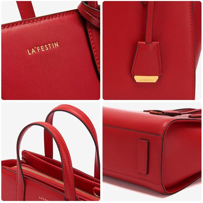 LA FESTIN Luxury woman handbag Leather shoulder bag Fashion messenger bag Women bags designer High capacity
