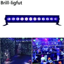 12LED 36W Disco UV Bar Lights Black LED Violet Wall Washer For Halloween Christmas Indoor Stage Effect
