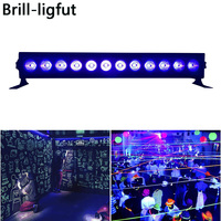 12LED 36W Disco UV Bar Lights Black Lights LED UV Violet Wall Washer Lights For Halloween Christmas Indoor Stage Effect Lights