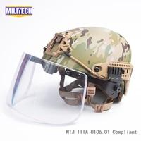 Multicam Airframe CP Air Frame Vented NIJ IIIA 3A Bulletproof Helmet Visor Set Deal Ballistic Helmet