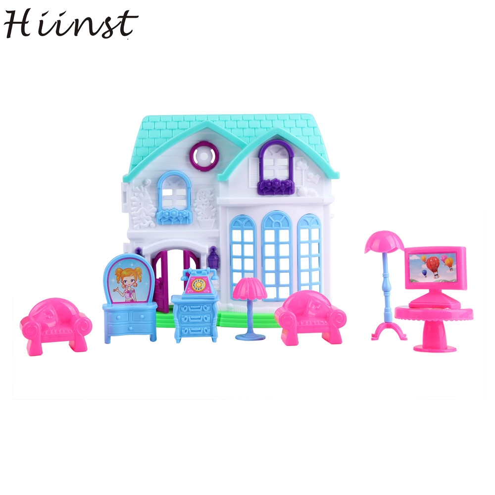 HIINST MallToy 2017 New Hot 1Set House Castle Villa Toy Baby Simulation Family Scene Dropship Aug28