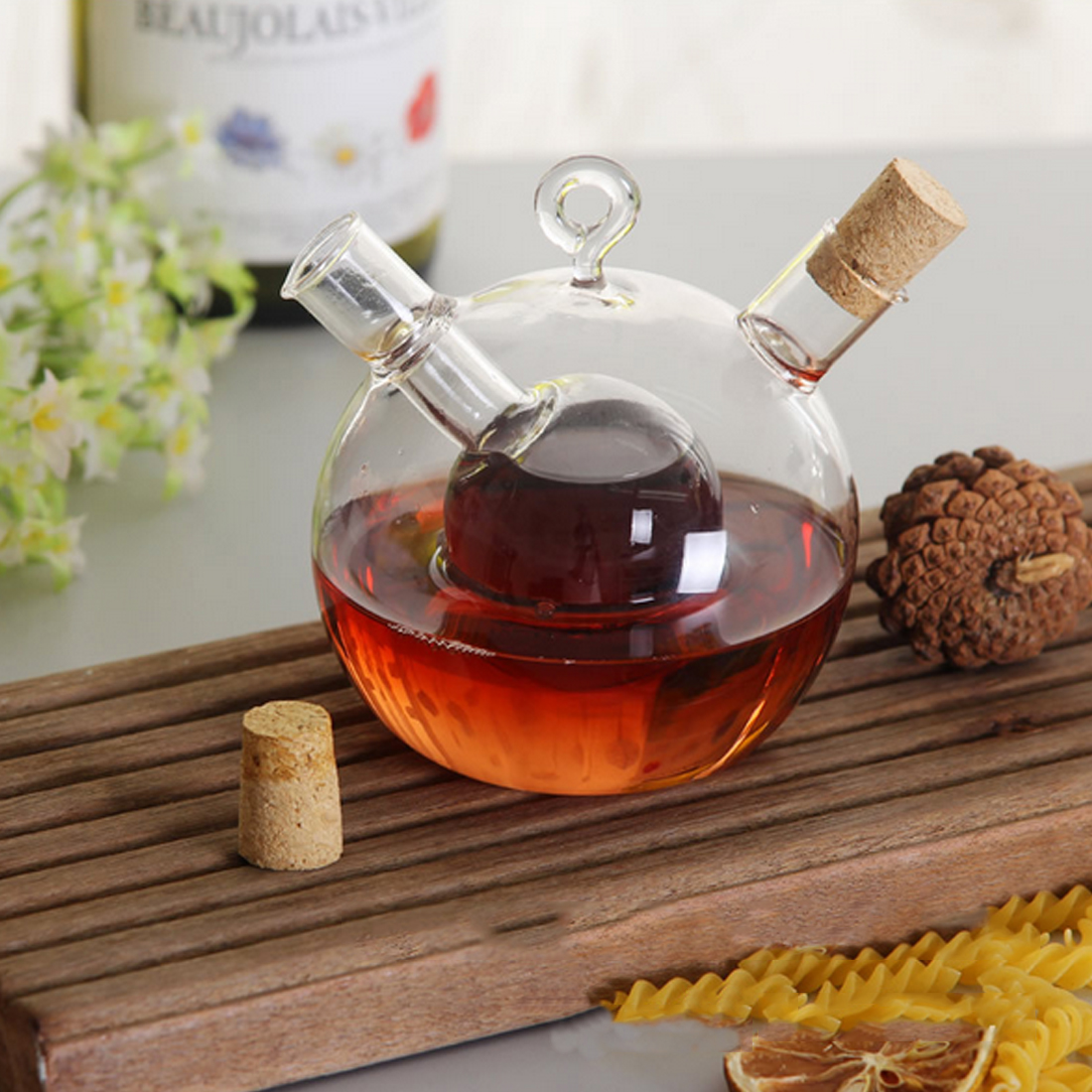 High temperature spice bottle oil and vinegar glass bottle sauce glass jar sealed seasoning glass storage wine bottles