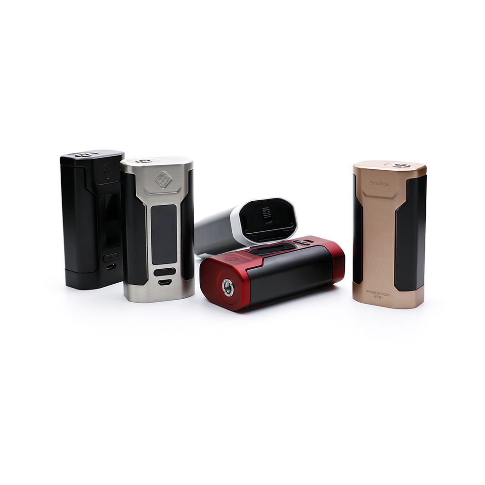 original Wismec Predator 228W TC Box Mod wismec predator mod e cigarette battery for ammit RTA griffin RDTA