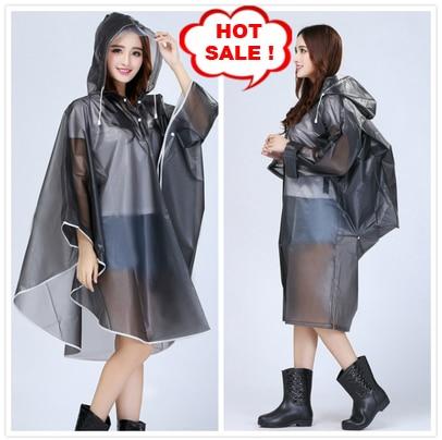 Donne Trasparente Impermeabile Con Cappuccio Impermeabile Poncho di Plastica capa de chuva Impermeabili Bicicletta Femminile Colorato EVA casaco de chuva