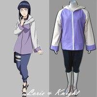 Japon Anime Cosplay Naruto Hinata Hyuga Cosplay Kostüm Hoodie için Üstleri Spor Takım Elbise Kız