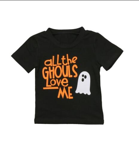 Halloween Toddler Baby Kids Boy Girls T-shirt Cotton Short Sleeve Summer Tops Shirts