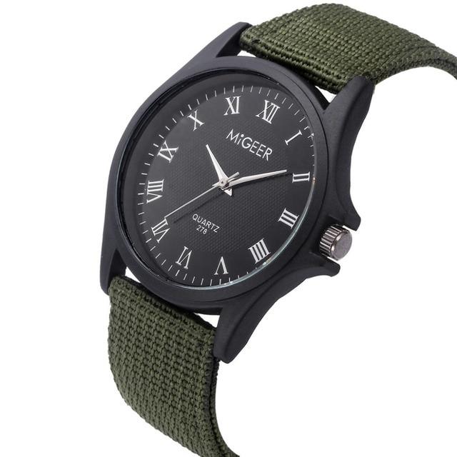 2018 New Orologio da uomo Classic Men Watch Wrist Nylon Mesh Belt Watch Strap Quartz Casual Watches Relogio dos homens B50