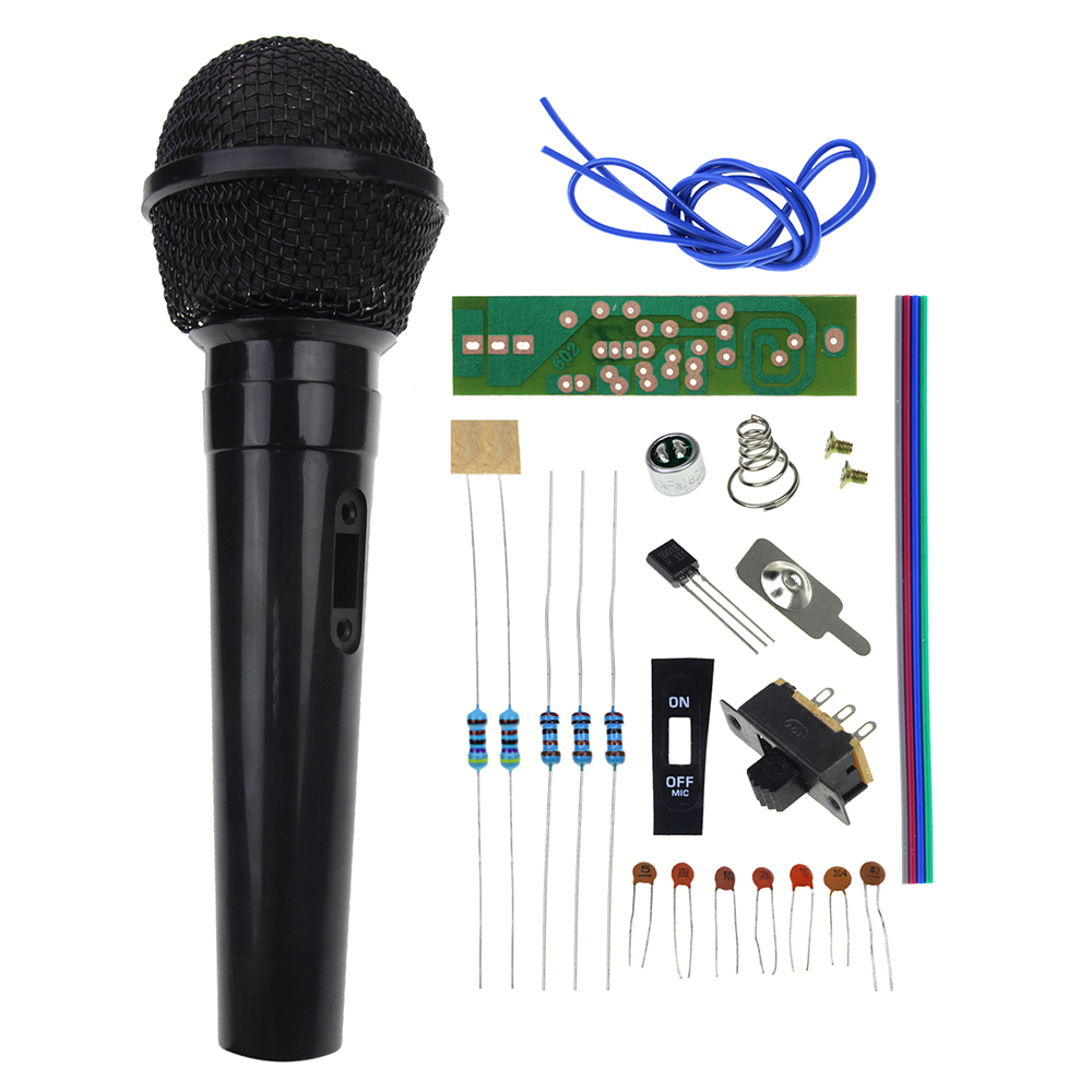 Fm Radio High Frequency Wireless Microphone Diy Kits Mic Board Sound 9v Transmitter Circuit Wiring Diagrams Kit Electronic Production Parts Training