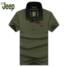 2017 AFS JEEP/Battlefield Jeep new listing spring summer casual polo shirt men solid color short sleeves polo shirt 50