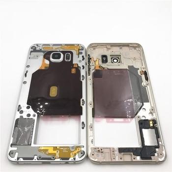 Nuevo Marco de placa frontal central para Samsung Galaxy S6 + G928 S6 Edge Plus tarjeta simple placa media LCD soporte marco bisel carcasa