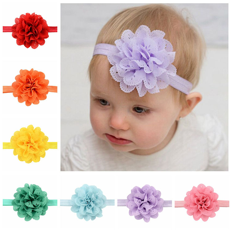 16 unids/lote la moda coreana bebé flor de la venda Hollow flores de tela