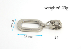 5# Fashioned luggage key locking zipper slider for bags Zipper puller for handbag,garment,accessory shoes cloth