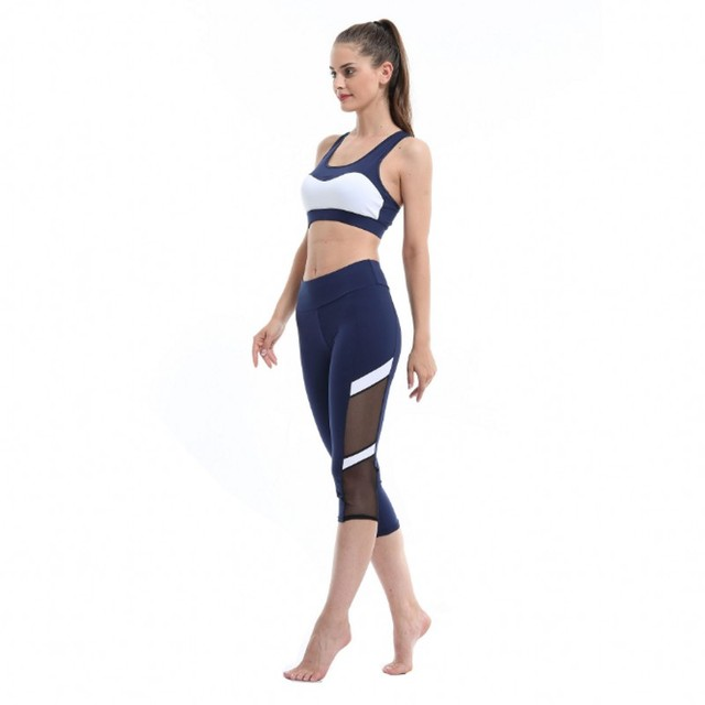 6938ac1e37fea Hot sale mesh splice fitness leggings trousers for women athleisure 2017  jeggings black slim legging pants female elastic 403