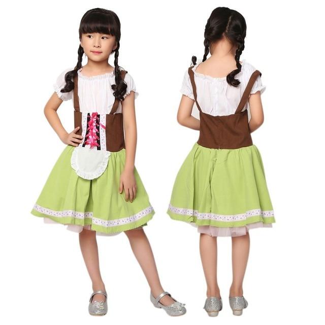 afca8ffcde New Girls Dress Halloween Girls Play Costumes Oktoberfest German Beer  Costumes Stage Uniforms 2018 Children Clothing 3-15Y Z1