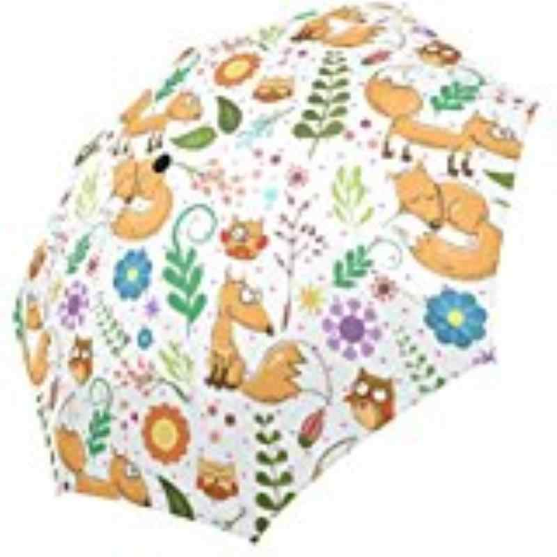 0d9f9f38b2cb Cute Fox Polka Storm Resistant Custom Foldable Umbrella Foldable Sun ...