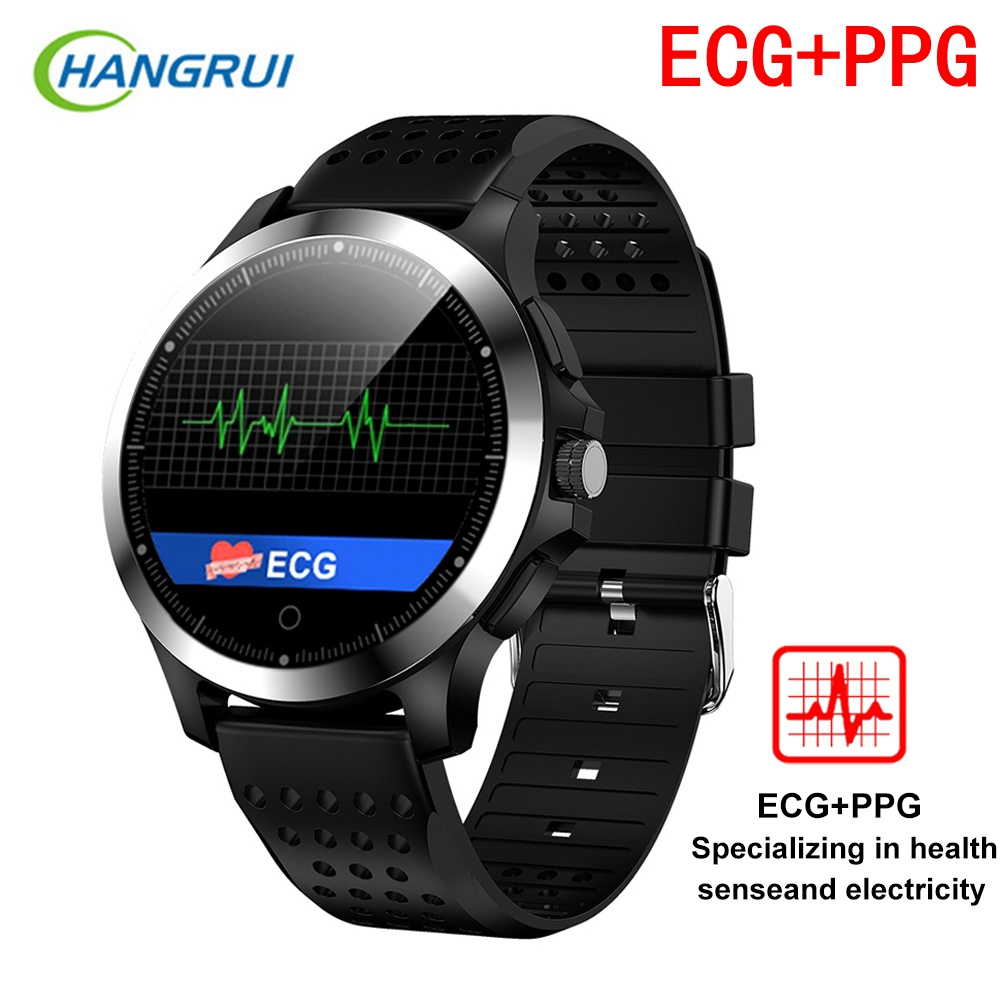 W8 ECG+PPG Fitness Bracelet Smart Watch Blood Pressure Heart Rate Monitor Pedometer IP67 Waterproof Business Smart Band For Men