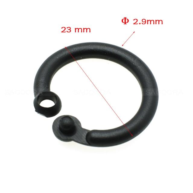23mm Practical Black Plastic Sliding Shower Curtain Ring Snap On Clip