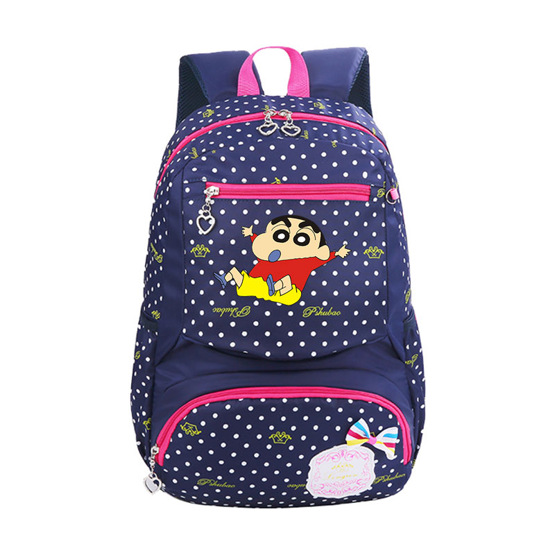QB crayon shin chan Backpack Prevails crayon shin chan School Backpack for Teenage Girls Boys School Bags Travel Daypack cxzyking crayon shin chan plush toy japanese anime shin chan cosplay totoro panda plush cute stuffed soft doll kids toys
