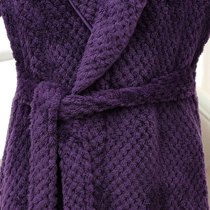 Aliexpress.com : Buy Women Men Extra Long Warm Grid Flannel Bath ...