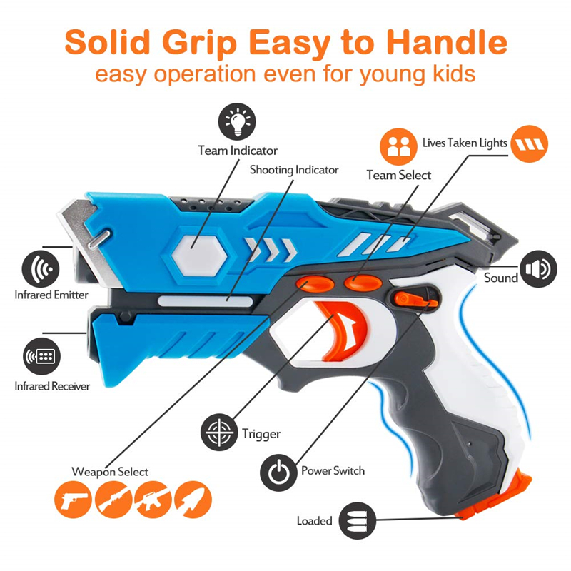 New Infrared Laser Tag Toy Gun Versus Gunshot Light Indoor And Outdoor Game Gift Set Children Gift Kids Multiplayer
