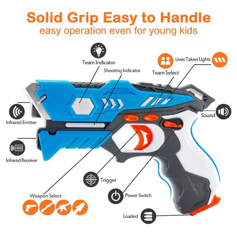 New Infrared Laser Tag Toy Gun Versus Gunshot Light Indoor And Outdoor Game Gift Set Children Gift Kids Multiplayer