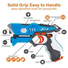 Novo infravermelho laser tag arma de brinquedo versus tiro luz interior e ao ar livre jogo presente conjunto crianças presente crianças multiplayer