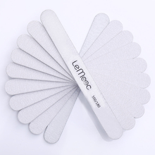 LEMOOC 5Pcs/Lot Nail File 100/180 Straight Grinding Sanding Buffer Block Pedicure Double Side Grey Manicure Nail Files Care Tool недорого