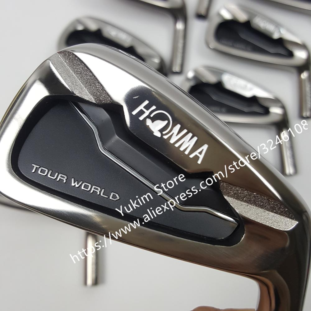 golf HONMA Tour World TW737p iron group 4-10 w (10 PCS)Black head steel shaft R / S free shipping new golf head romaro alcobaca tour stream forged carbon steel golf wedge head have 50 56 58 deg loft no golf shaft free shipping