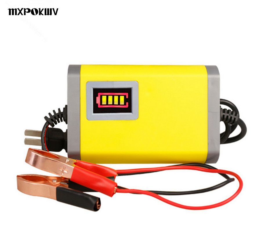 Portable 12V Motorcycle Scooter Charger Power Supply 12V Storage AGM Lead Acid Gel Battery Smart Auto Car Charger 12V 2A DC13.8V 72v 10a smart gel agm lead acid battery charger car battery charger auto pulse desulfation charger
