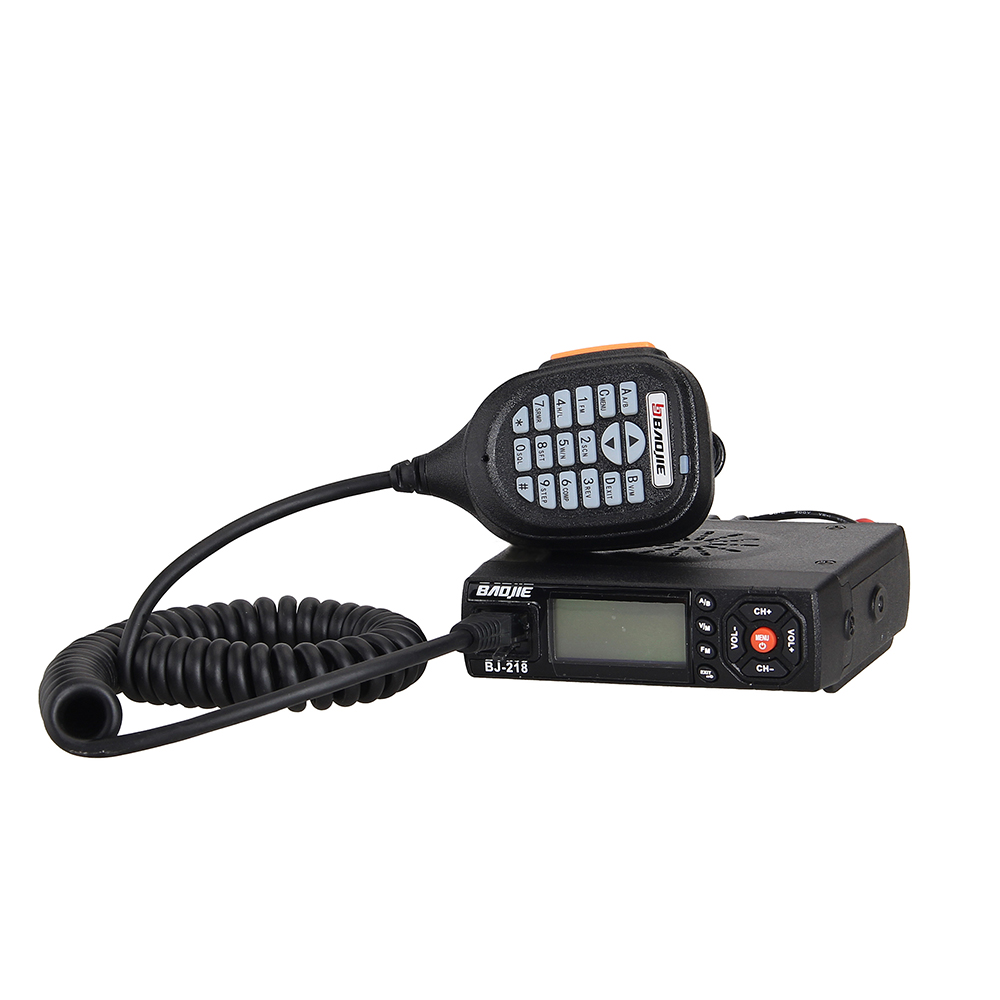 Baofeng Car/Trunk Mobile Radio, Baojie BJ-218 Dual-band 25W 256CH Scan CTCSS Two-way Radio Walkie Talkie+Power Cable+MicrophoneBaofeng Car/Trunk Mobile Radio, Baojie BJ-218 Dual-band 25W 256CH Scan CTCSS Two-way Radio Walkie Talkie+Power Cable+Microphone