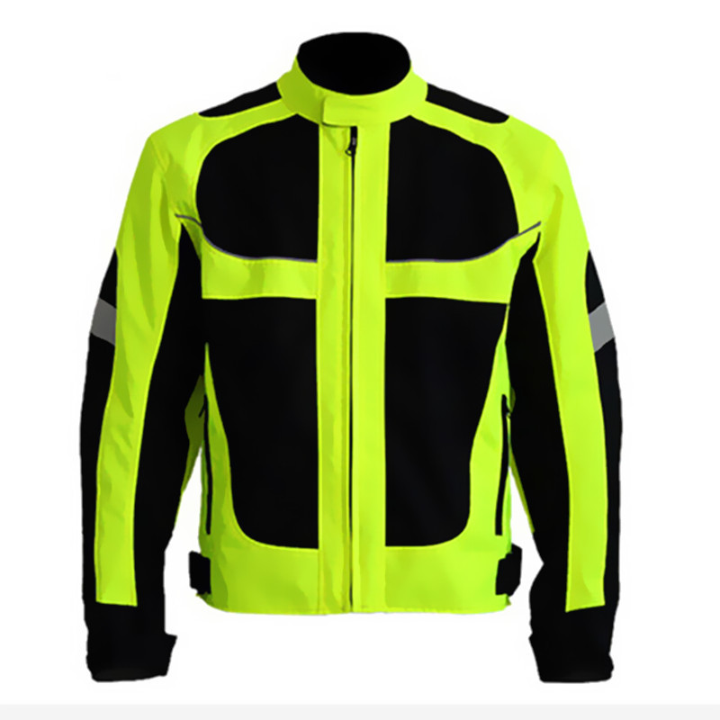 Men's Summer Motorcycle Jacket Motocross Racing Reflective Safety ...