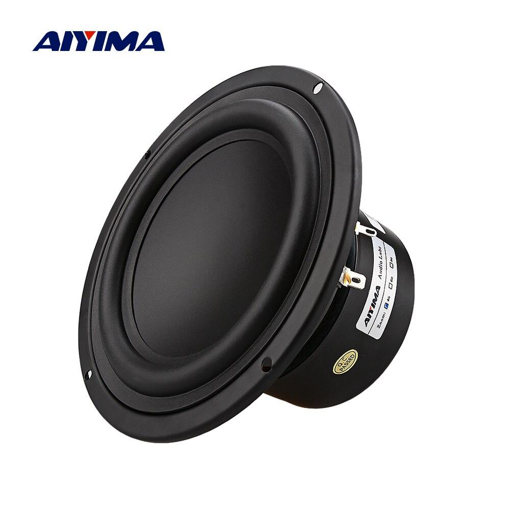AIYIMA 1 шт. 5,25 дюймовый сабвуфер 4 8 Ом 40 Вт НЧ динамик мощный бас домашний кинотеатр для книжной полки динамик аудио автомобиля DIY|Полочные АС|   | АлиЭкспресс