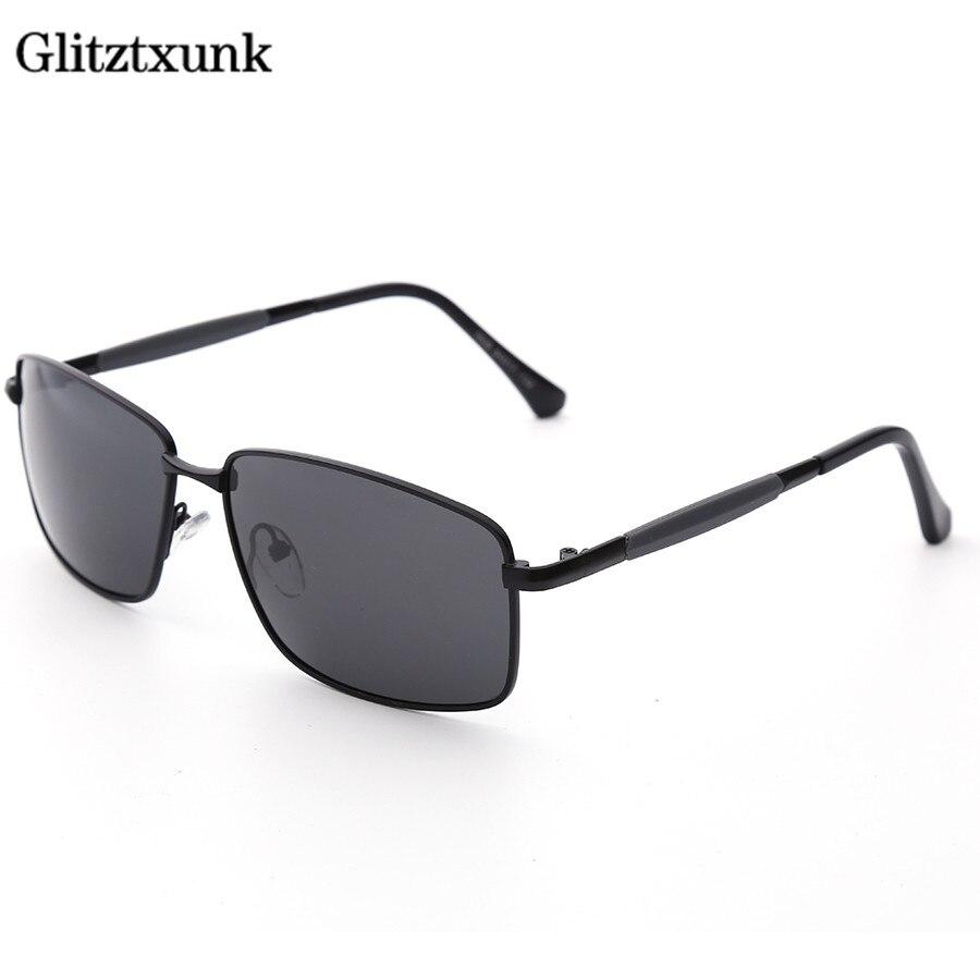 Glitztxunk marque 2018 Hommes de lunettes de Soleil Polarisées Aluminium Et De Magnésium Cadre Voiture Conduite Lunettes de Soleil UV400 Polarisé Lunettes Lunettes