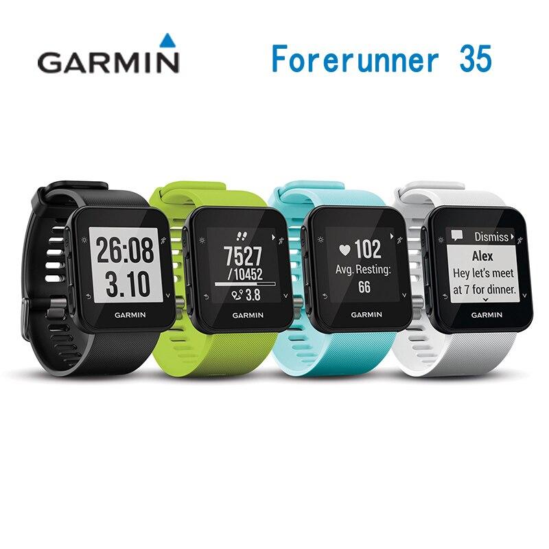 GARMIN Forerunner 35 GPS Équitation tachymètre Tour/RunningMultifunction Montre-Bracelet Coeur Taux Smartwatch D'équitation Imperméable