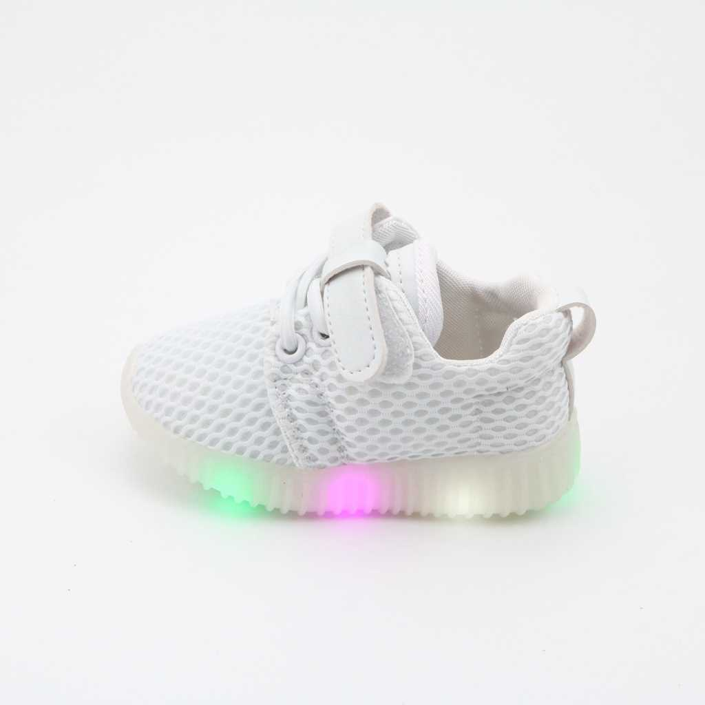 4f5e3048902c children s LED casual shoes New 1-3 years old baby toddler soft bottom  breathable baby