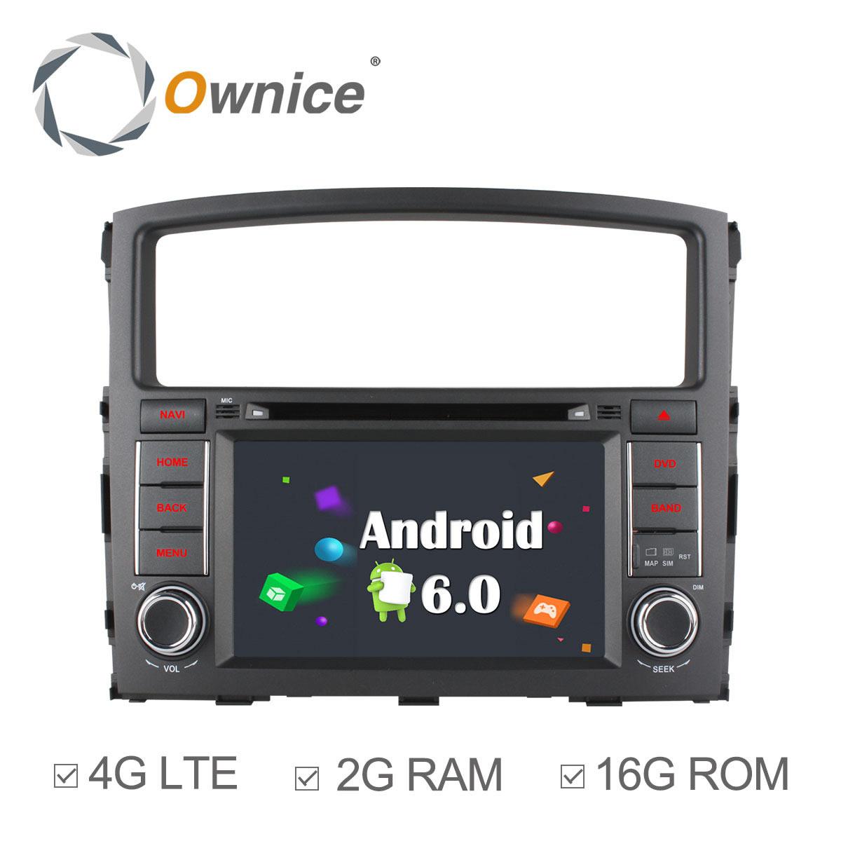 4G SIM LTE 1024*600 Android 6.0 For MITSUBISHI PAJERO V97 V93 2006 -2012 Car DVD Player GPS NAVI radio support DAB+ TPMS DVR