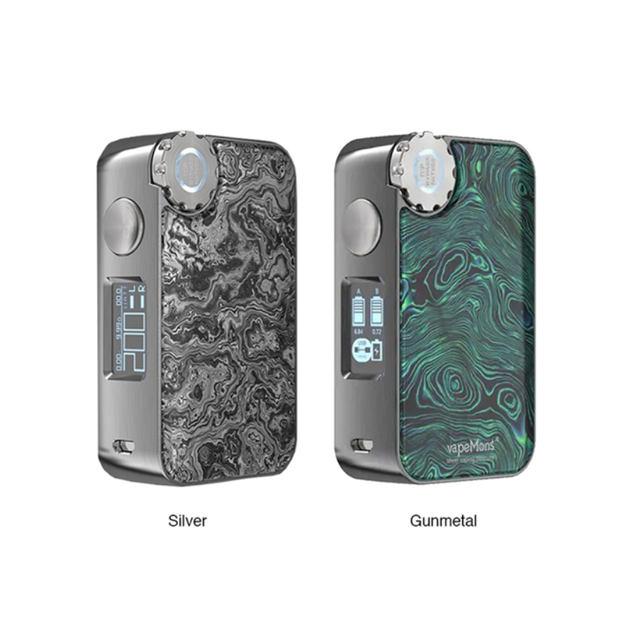 Heavengifts ECOFRI Gear Box Mod com LED & tela de Carregamento Sem Fio Power By 18650 Caixa Mod Bateria