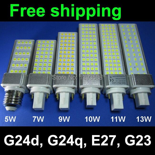 real power 2 pins g24d 1 g24d 3 g24d 3 pl bulb lamp 5w 7w 9w 10w 11w 12w 13w 14w smd5730 5050. Black Bedroom Furniture Sets. Home Design Ideas