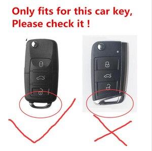 Image 2 - Cucito a mano Luminoso di chiave dellautomobile di Cuoio della copertura di caso di shell per VW Golf Bora Jetta POLO GOLF Passat Per Skoda Octavia a5 Fabia SEAT