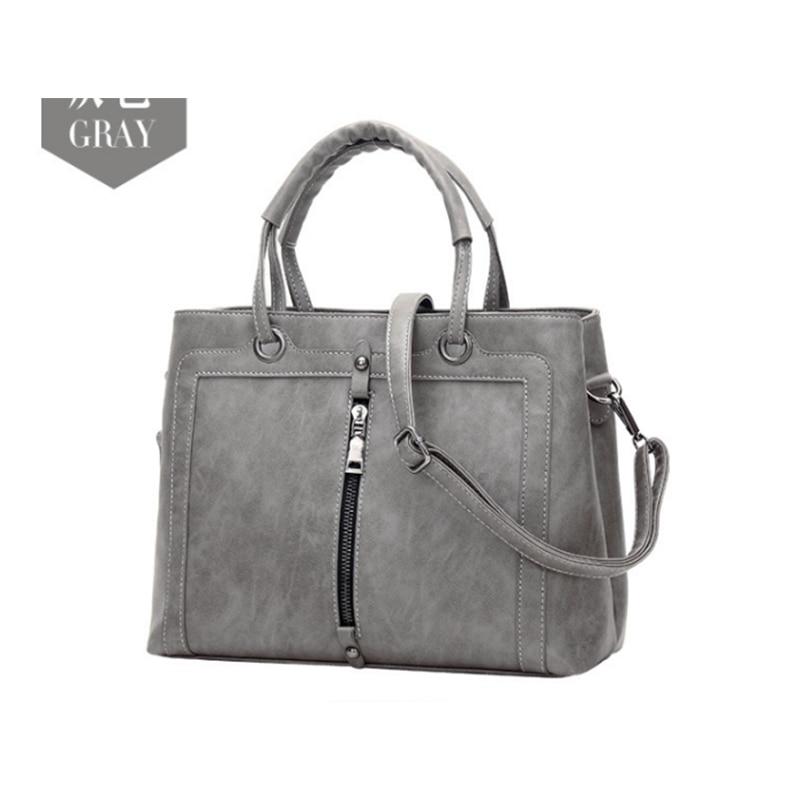 Vintage Leather Female Handbag Fashion Tassel grey Messenger Bag Women Shoulder Bag Larger Top-Handle Bags Travel Bag black/red цена