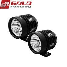 2pcs GOLDRUNWAY 30IX Motorcycle LED Headlight Fog Light U3 30W 3000LM Universal Motorcycle Professional Head light Spot light