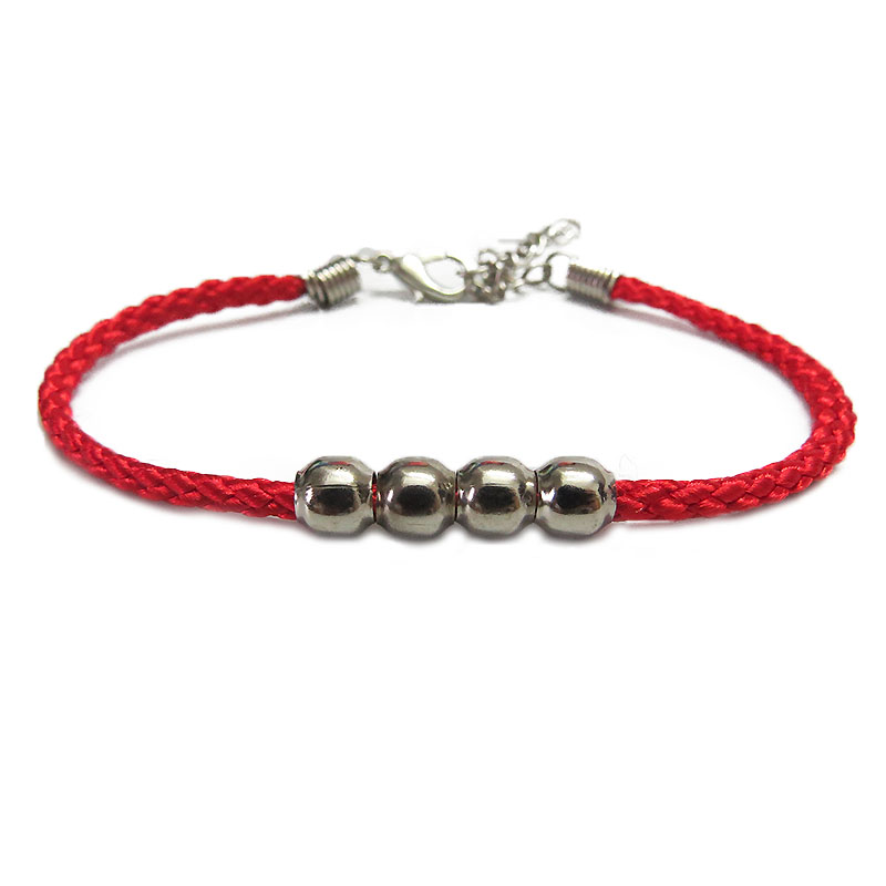 Fashion Classic Rope Leather Black Bracelet Red Thread Line Jewelry Red String Bracelet for Women Men Lobster Bracelets Gift