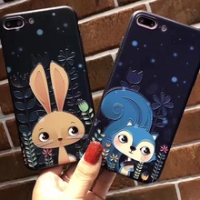 Fox Phone Cases  Cute Glitter Gradient Soft TPU Cover for iPhone 6 6S 7 7plus phone shell