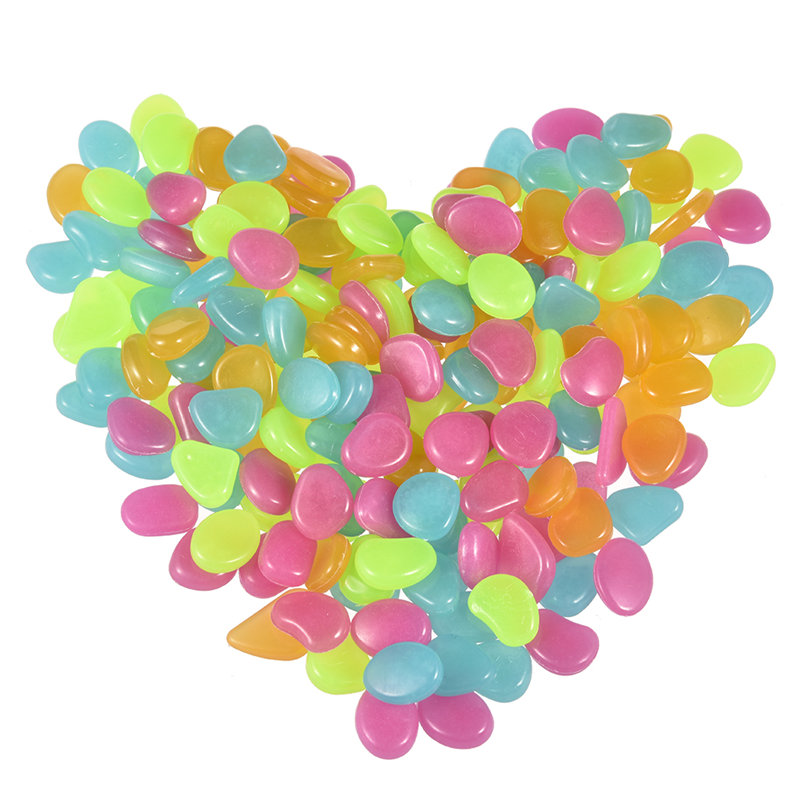 Glow in the Dark Garden Pebbles 50Pcs