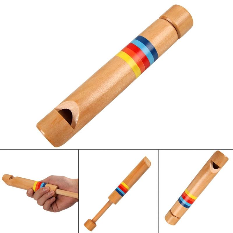 1 Pcs Kinder Holz Flöte Pfeife Musical Instrument Pädagogisches Spielzeug Für Kinder @ Zjf