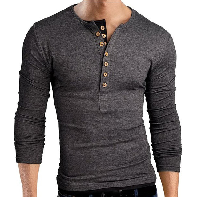 2016 New Arrival Men polo shirts Fashion Solid Color Slim Fit Cool Long Sleeve Solid Black polo shirts
