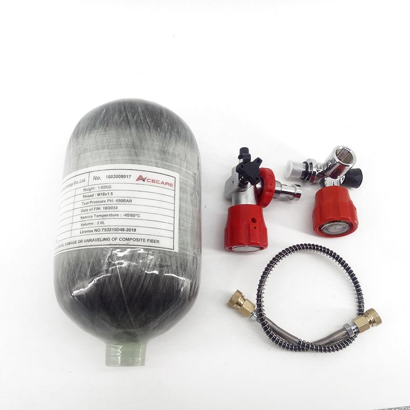 AC52011 2L CE Scuba Pcp Air Tank/Air Rifle Pressure/Airforce Condor Paintball AirGun Tank Cylinder Pcp Valve Filling Station